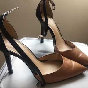 BCBG Two Toned Pointed Toe Heels
